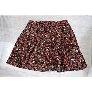 LA Hearts floral skater skirt